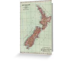 New Zealand Antique Maps Greeting Card
