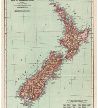 New Zealand Antique Maps Sticker