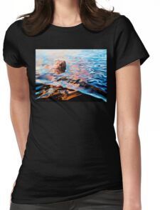 Trippy Painting - Woman In Lake Womens Fitted T-Shirt
