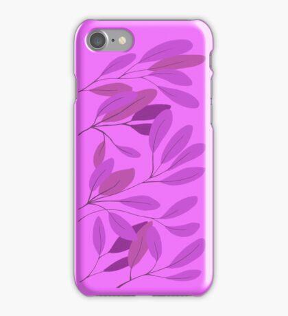 leaves - purple iPhone Case/Skin