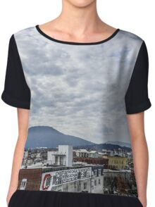 Mountains in the city Chiffon Top