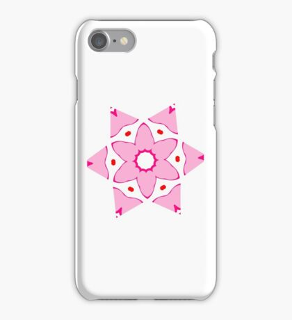 Simple pink flower iPhone Case/Skin
