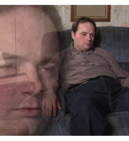 Depressed Rich Evans Alcoholic - Meme Sticker