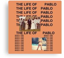 Life Of Pablo Canvas Print