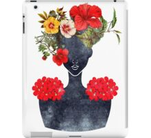 Crown of Flowers Silhouette (0001) iPad Case/Skin