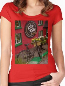 Kitty Kelly's restaurant, Donegal - tall Women's Fitted Scoop T-Shirt
