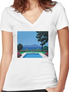 Chill Vibe Women's Fitted V-Neck T-Shirt