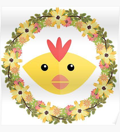 Chicken&Wreath Poster