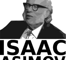 Isaac Asimov Black & White Vector by cangurojoe
