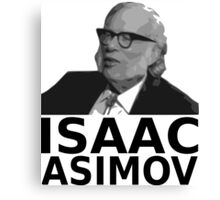 Isaac Asimov Black & White Vector Canvas Print
