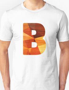 Letter B -Wooden Initial Unisex T-Shirt