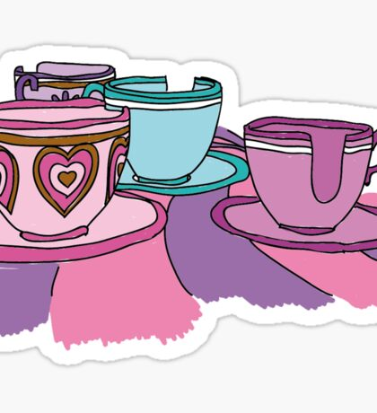 Teacups Ride Sticker