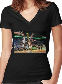 S.O.N Women's Fitted V-Neck T-Shirt