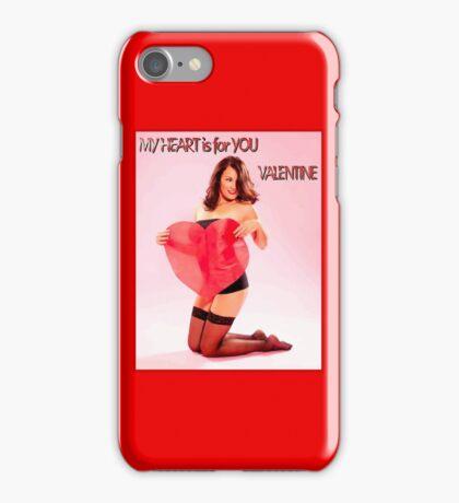 VALENTINE PIN UP HEART; Beautiful Print iPhone Case/Skin