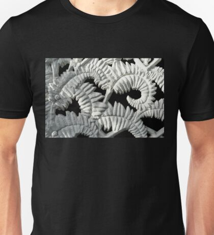 Graceful Black And White Fern Patterns - Take Two Unisex T-Shirt