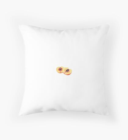 Peach Outline Throw Pillow