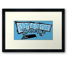 Welcome to the #BattleStationBrotherhood Framed Print