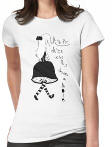 A is for Alice Womens Fitted T-Shirt