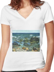 Block Island Women's Fitted V-Neck T-Shirt