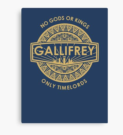 Gallifrey - No Gods or Kings, only Timelords Canvas Print