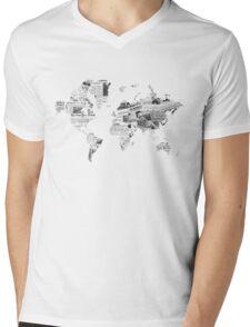 World News Mens V-Neck T-Shirt