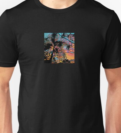 Palm tree at Sunset Unisex T-Shirt