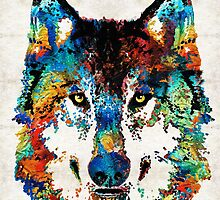 Wolf Art Print - Hungry - By Sharon Cummings by Sharon Cummings