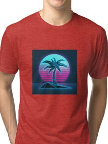 Vaporwave tree Tri-blend T-Shirt