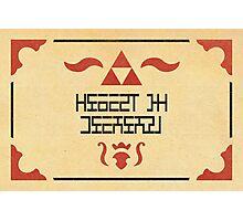 Zelda's Letter Photographic Print