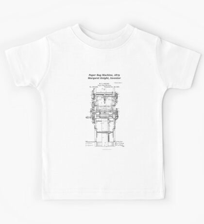 Margaret Knight, Inventor of the Paper Bag Machine Kids Tee