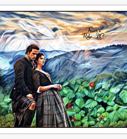 Jamie and Claire\Fraser's Ridge, NC Sticker