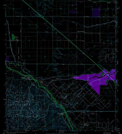 USGS TOPO Map California CA Tupman 102072 1954 24000 geo Inverted Sticker