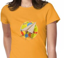 Paper Airplane 80 Womens Fitted T-Shirt