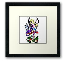 Faerie and Pseudo Dragon Framed Print