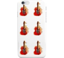 watercolor guitars iPhone Case/Skin