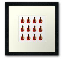 watercolor guitars Framed Print