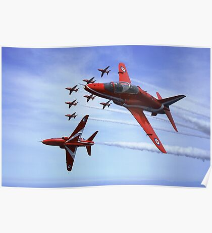 The RAF (Royal Air Force) Red Arrows Poster