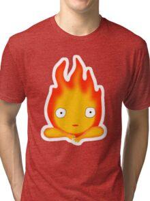 Anime Fire Friend - Calcifer Fanart Tri-blend T-Shirt
