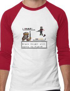 Black Knight Battle Men's Baseball ¾ T-Shirt