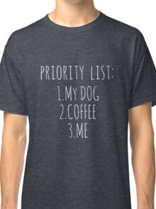 DOG COFFEE & ME (Color) Classic T-Shirt