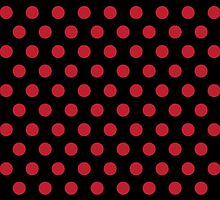 Polkadots Black and Red by Medusa81