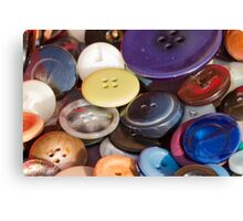 old buttons collection Canvas Print