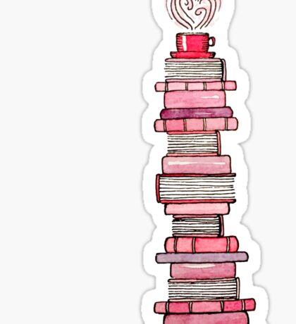 Pink Books   Sticker