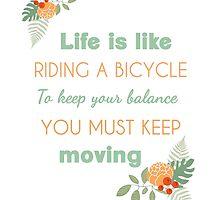 Albert Einstein life quote by AnnaGo