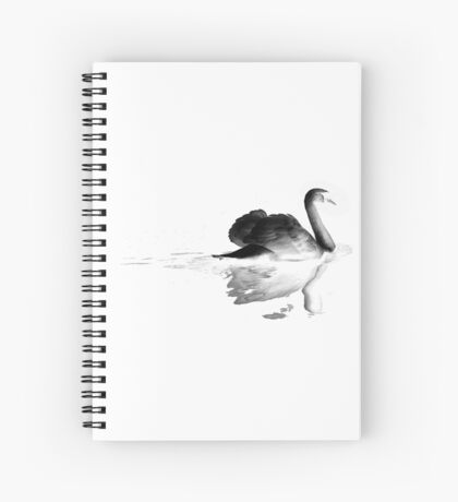 swan and the lake Spiral Notebook