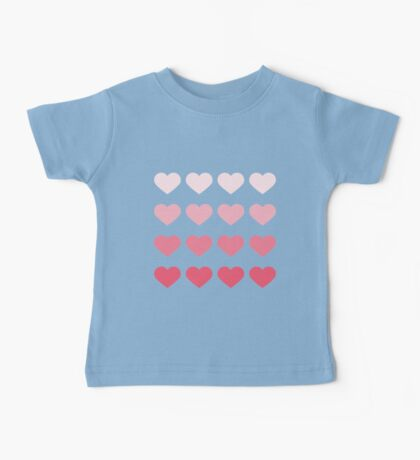 Cute Ombre Hearts Baby Tee