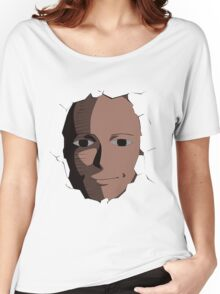 Saitama Face Expression (One Punch Man Anime) Women's Relaxed Fit T-Shirt