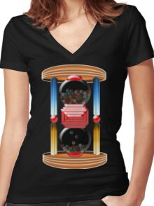 candy time Women's Fitted V-Neck T-Shirt