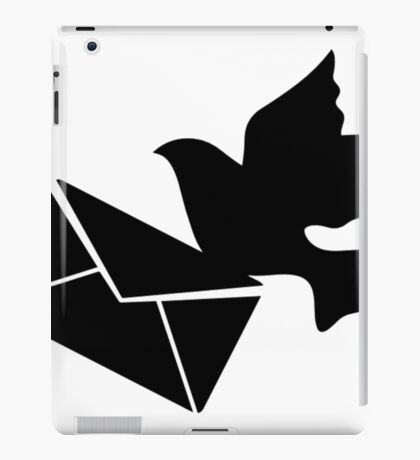 A Carrier Pigeon With A Letter- pigeon t shirt iPad Case/Skin