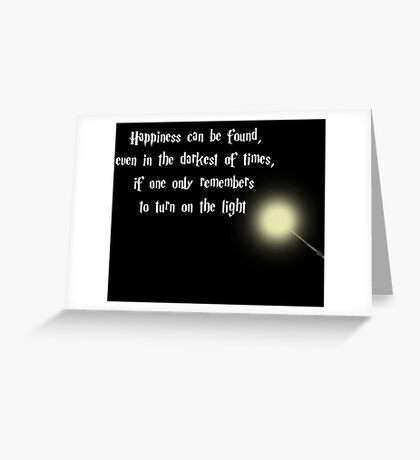 Dumbeldore's Happiness Quote Greeting Card